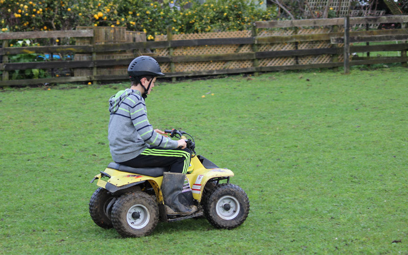 Quad bikes are available to ride